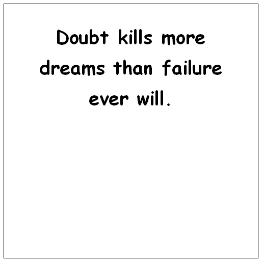 Doubt and failure